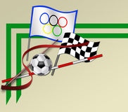 Sporting elements Stock Images