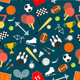 Sporting equipment and item seamless pattern Royalty Free Stock Photos