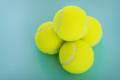 Sporting equipment: tennis balls Royalty Free Stock Images