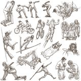 Sporting Events, Sport Mix - An hand drawn collection on white. Royalty Free Stock Images