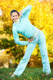 Sporting exercise. Jogging woman Stock Images