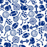 Sporting game equipment seamless pattern Royalty Free Stock Photography