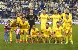 Sporting Gijon lineup Stock Image