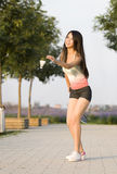 A sporting girl Stock Photography