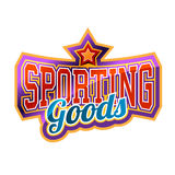 Sporting Goods. Sign bright and shiny Stock Photography