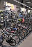 Sporting goods store bikes Stock Photo
