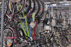 Sporting goods store bikes Stock Images