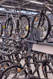 Sporting goods store bikes Stock Photo
