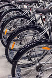 Sporting goods store bikes Royalty Free Stock Images