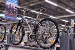 Sporting goods store bikes Stock Photos