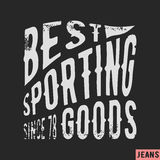 Sporting goods vintage stamp Royalty Free Stock Image