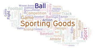 Sporting Goods word cloud. Made with text only vector illustration