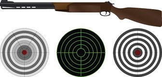 Sporting gun and targets Royalty Free Stock Image