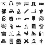 Sporting icons set, simple style Royalty Free Stock Photos