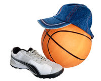 Sporting inventory. Sporting shoe of running shoe for going in for sports Royalty Free Stock Photography