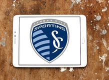 Sporting Kansas City Soccer Club logo. Logo of Sporting Kansas City Soccer Club on samsung tablet. Sporting Kansas City is an American professional soccer club Stock Photography