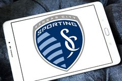Sporting Kansas City Soccer Club logo. Logo of Sporting Kansas City Soccer Club on samsung tablet. Sporting Kansas City is an American professional soccer club Stock Images