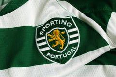 Sporting Lisbon emblem. Portuguese football club Sporting Lisbon emblem Stock Images