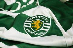 Sporting Lisbon emblem. Portuguese football club Sporting Lisbon emblem Royalty Free Stock Photo