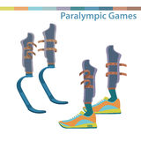 Sporting the lower limbs. International sports competitions for people with disabilities.Summer Paralympic Games.  vector illustration Royalty Free Stock Images