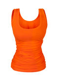 Sporting orange t-shirt. On an isolated white background Royalty Free Stock Photos