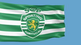 Sporting Portugal Flag is Waving vector illustration