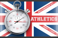 Sporting poster of athletics Stock Photography