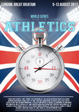 Sporting poster of athletics Stock Photo