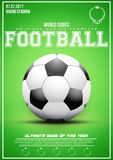 Sporting poster of football Stock Photography