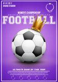 Sporting poster of women football Stock Images