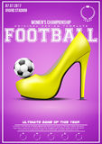 Sporting poster of womens football Royalty Free Stock Images