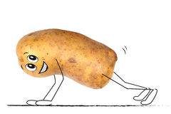 Sporting potato Royalty Free Stock Images