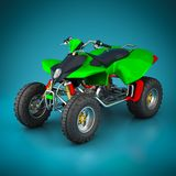Sporting quad bike Royalty Free Stock Photo