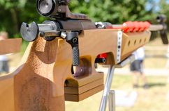 Sporting rifle. A Modern Sporting Rifle (MSR) is a category of popular semi-automatic firearm Royalty Free Stock Photos