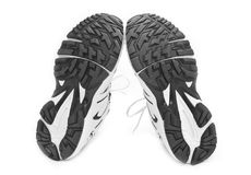 Sporting shoe on a white background Royalty Free Stock Images