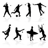 Sporting Silhouettes Royalty Free Stock Image