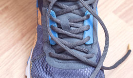 Sporting  sneakers with laces Royalty Free Stock Images