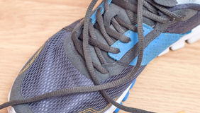Sporting  sneakers with laces Stock Image