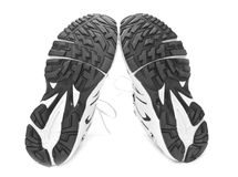 Sporting sole. Sporting shoe for at run on a white background Stock Photos