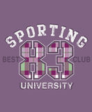 Sporting university design Stock Images