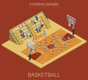 Sportinzameling: de gelijkespel van het basketbalteam royalty-vrije illustratie