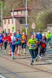 Sportisimo布拉格半马拉松2016年 库存图片