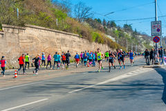 Sportisimo布拉格半马拉松2016年 库存照片