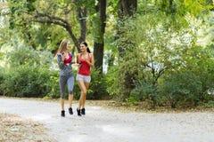 Sportive женщины jogging в парке Стоковая Фотография RF