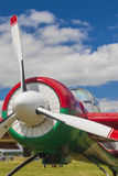 Sportive Aeroplane YAK-52 on display During Aviation Sport Event Stock Images