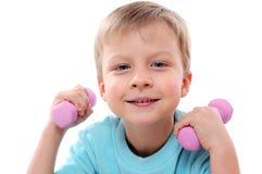Sportive child Stock Image