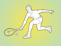 Sportive design för färgvektortatuering Royaltyfria Foton