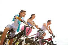 Sportive family stock photography