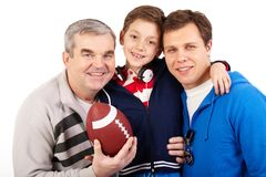 Sportive family Stock Photos