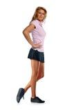 Sportive Frauenaufstellung Lizenzfreies Stockfoto